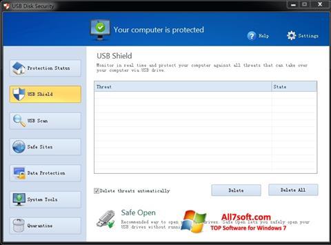 Képernyőkép USB Disk Security Windows 7