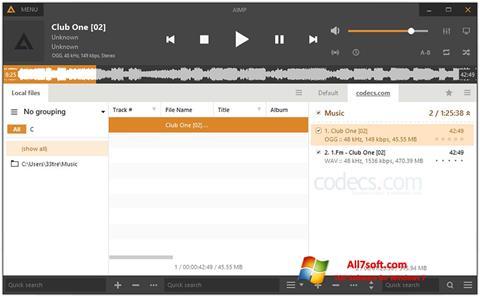 Képernyőkép AIMP Windows 7