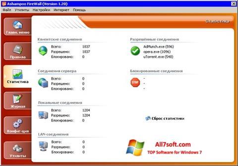 Képernyőkép Ashampoo Firewall Windows 7