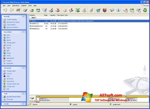 Képernyőkép Acronis Partition Magic Windows 7