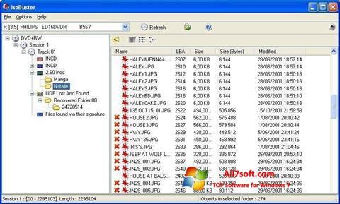 Képernyőkép IsoBuster Windows 7