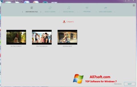 Képernyőkép Wondershare Filmora Windows 7