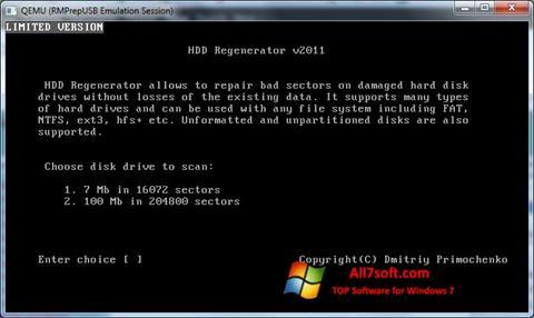 Képernyőkép HDD Regenerator Windows 7