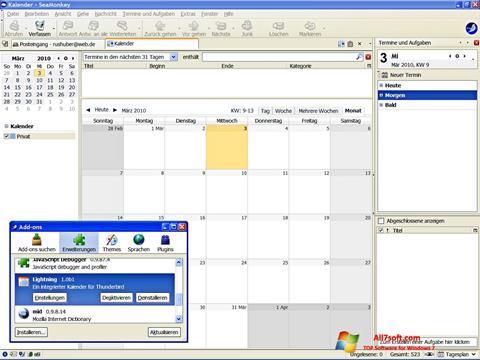 Képernyőkép SeaMonkey Windows 7