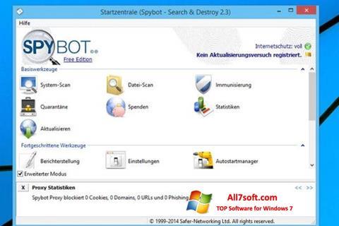 Képernyőkép SpyBot Windows 7