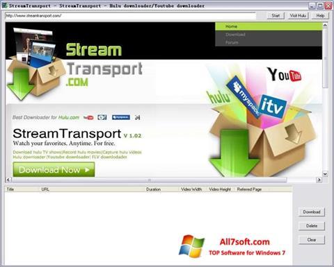Képernyőkép StreamTransport Windows 7