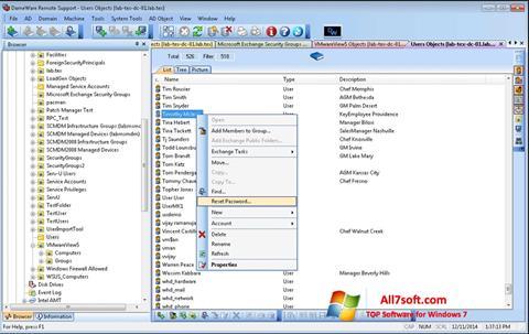 Képernyőkép Remote Administration Tool Windows 7