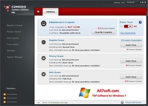 Képernyőkép Comodo System Utilities Windows 7