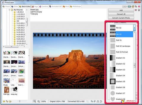 Képernyőkép PhotoScape Windows 7