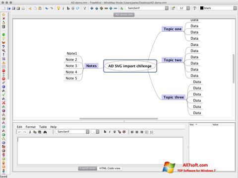 Képernyőkép FreeMind Windows 7