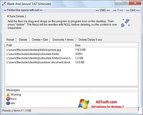 Képernyőkép Blank And Secure Windows 7
